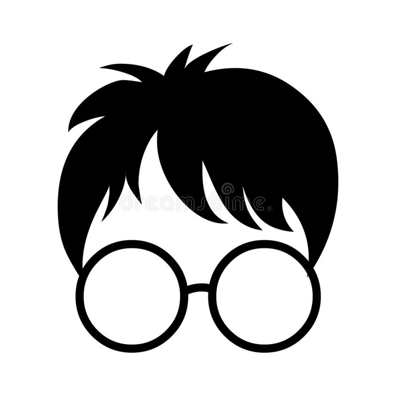 Harry potter icon.Spec and face vector illustration royalty free illustration