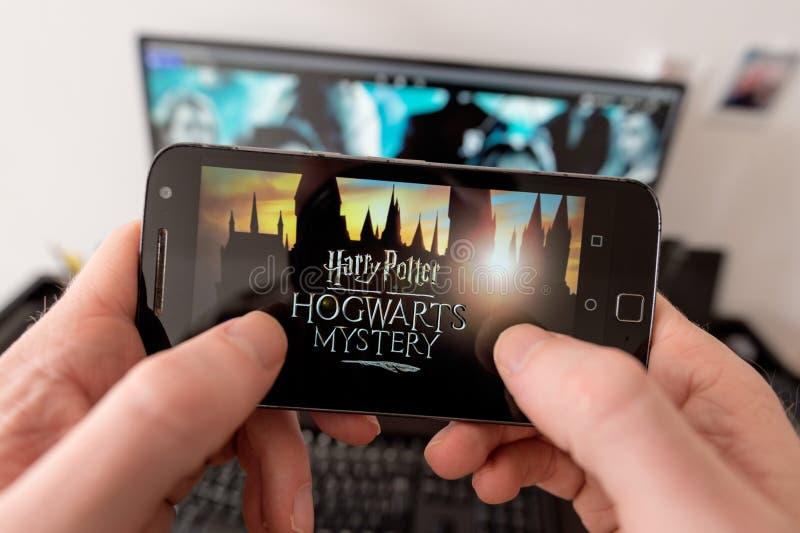 Harry Potter : Jeu de mystère de Hogwarts images libres de droits
