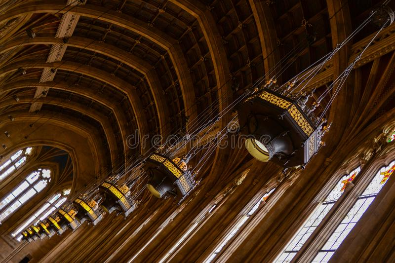 The Harry Potter Library. Inside the Suzzallo Library, in the University of Washington, Seattle stock photos
