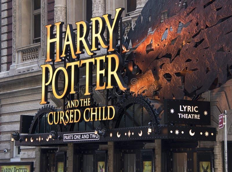 Harry Potter Marquee em Broadway fotografia de stock royalty free