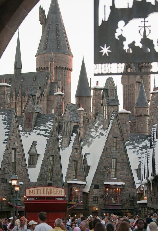 Harry Potter wizarding värld arkivfoto