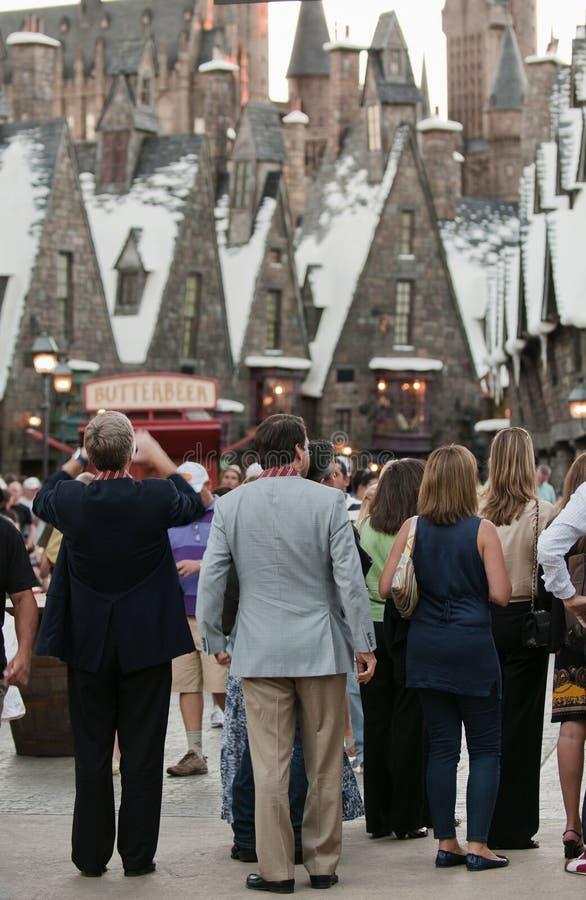 Harry Potter wizarding värld royaltyfri fotografi