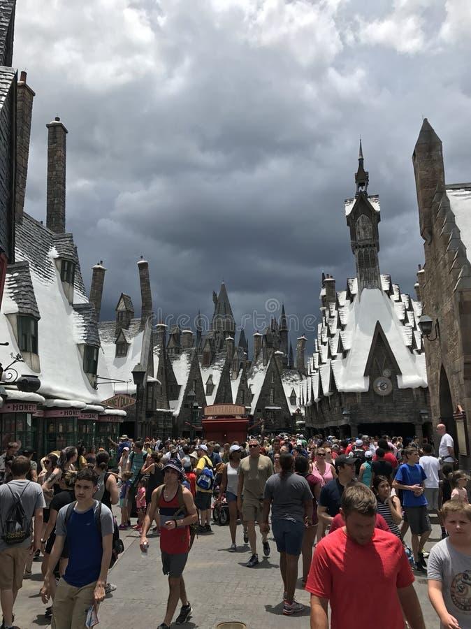 Harry Potter World på universella studior arkivfoto