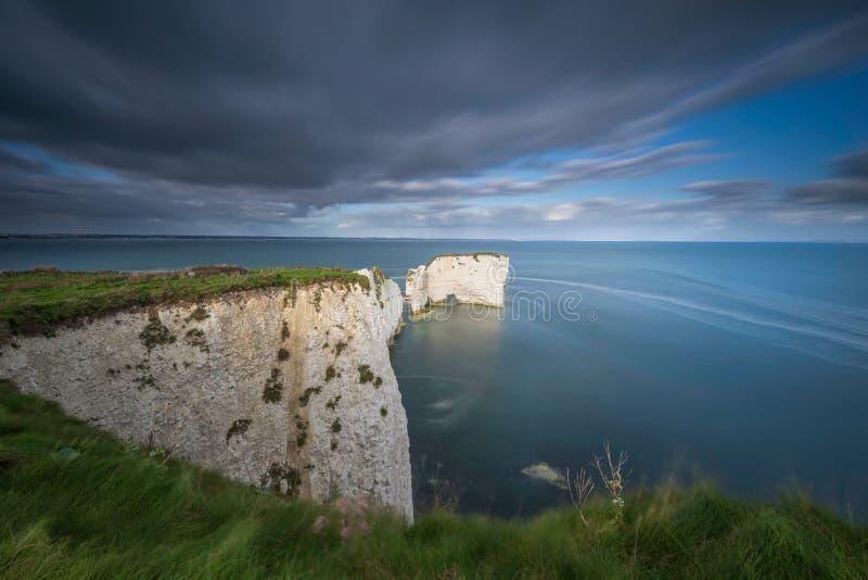 Harry Rocks anziano, costa giurassica, Dorset fotografie stock libere da diritti