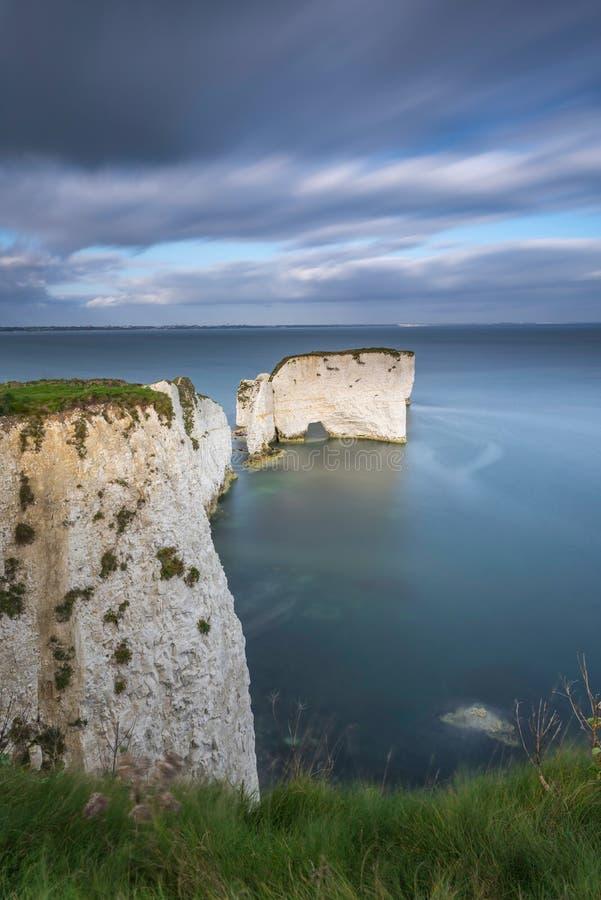 Harry Rocks anziano, costa giurassica, Dorset, Inghilterra immagini stock
