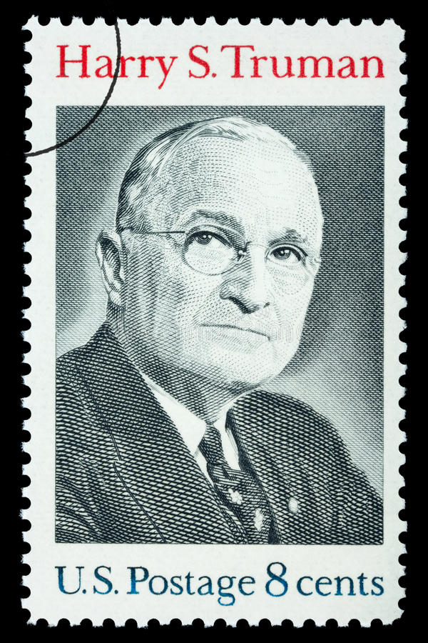 Harry S. Truman Postage Stamp. UNITED STATES AMERICA - CIRCA 1973: A postage stamp printed in the USA showing Harry S. Truman, circa 1973 royalty free stock photography