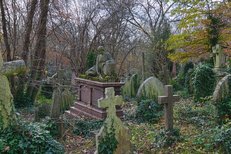 Harry Thornton Piano Grave Highgate imagenes de archivo
