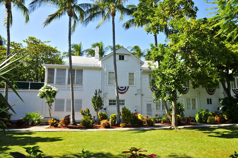 The Little White House, Key West. The Harry Truman Little White House, Key West, Florida (U.S. National Register of Historic Places royalty free stock photos