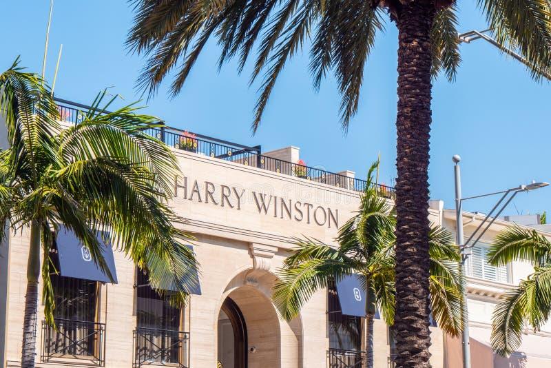 Harry Winston lager p? Rodeo Drive i Beverly Hills - Kalifornien, USA - mars 18, 2019 arkivbild