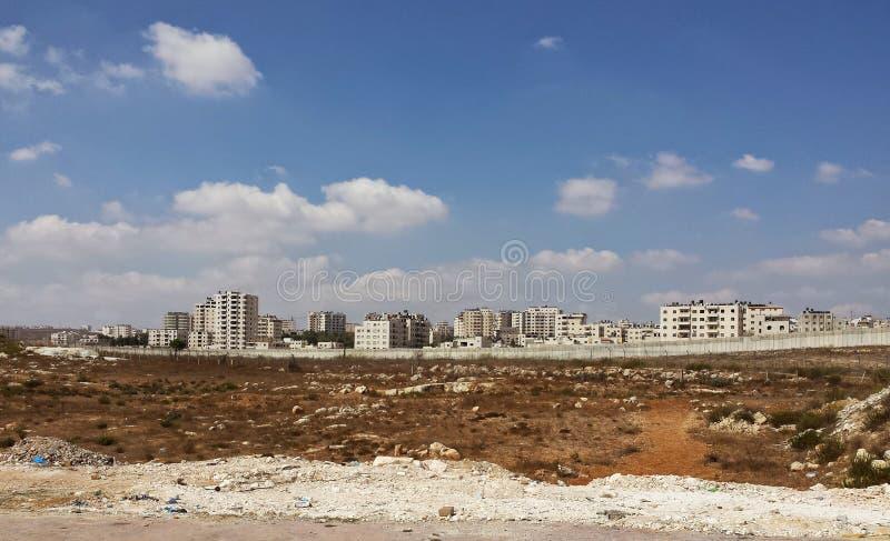 Harsh life: Ramallah behind the wall royalty free stock photography