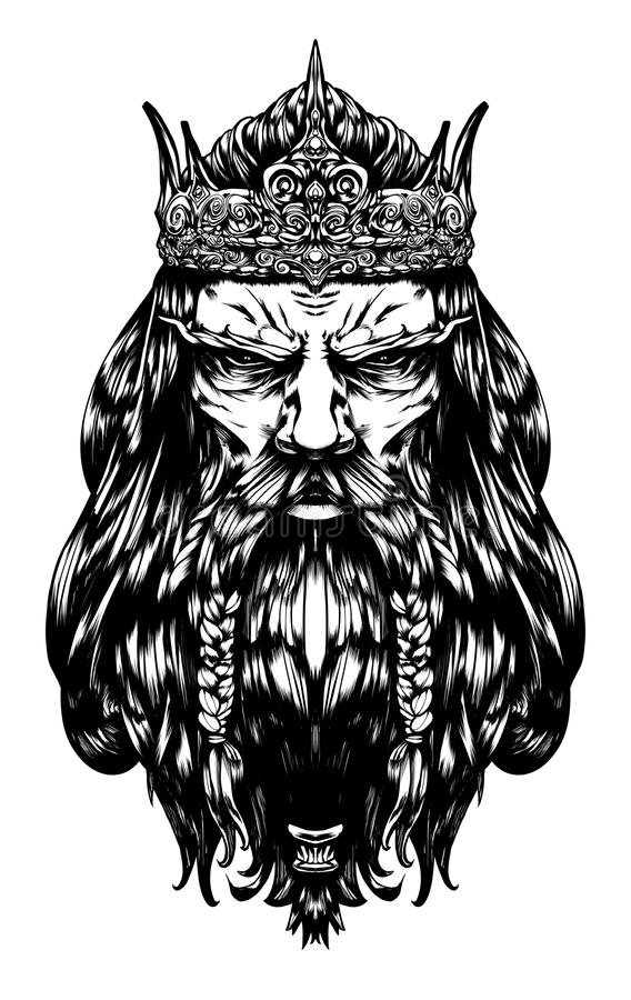 Free Harsh Old King Royalty Free Stock Photography - 123055027