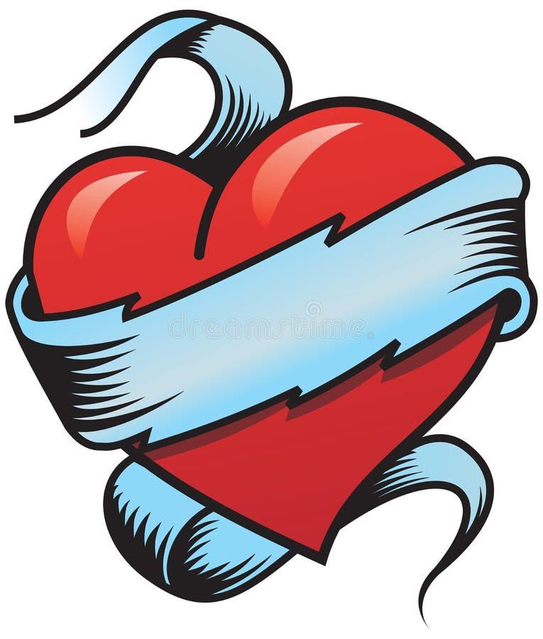 Hart 2 van de valentijnskaart vector illustratie