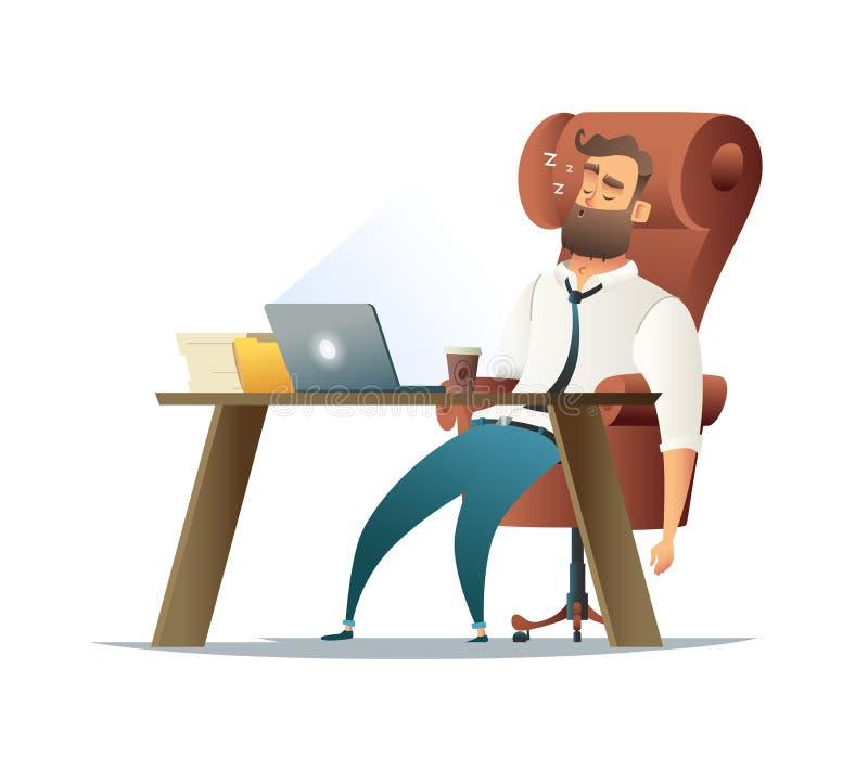 Hart arbeitend Nacht im Büro Hintergrund für Mitteilung lizenzfreie abbildung