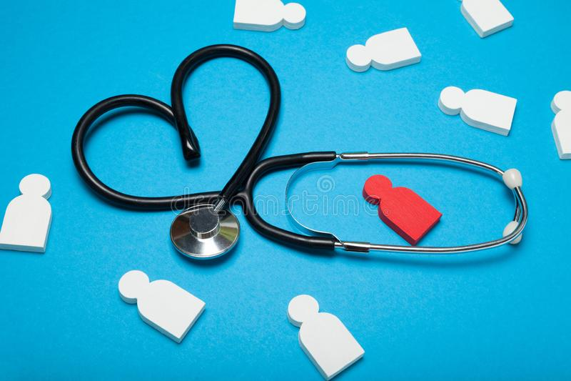 Hart arts, cardiologiezorg Hartaanval, kliniek stock foto's