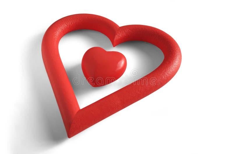 Hart binnen een hart stock afbeeldingen