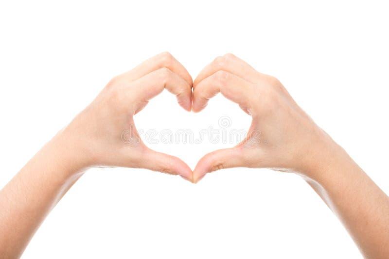 Hart dat van handen wordt gemaakt stock afbeeldingen