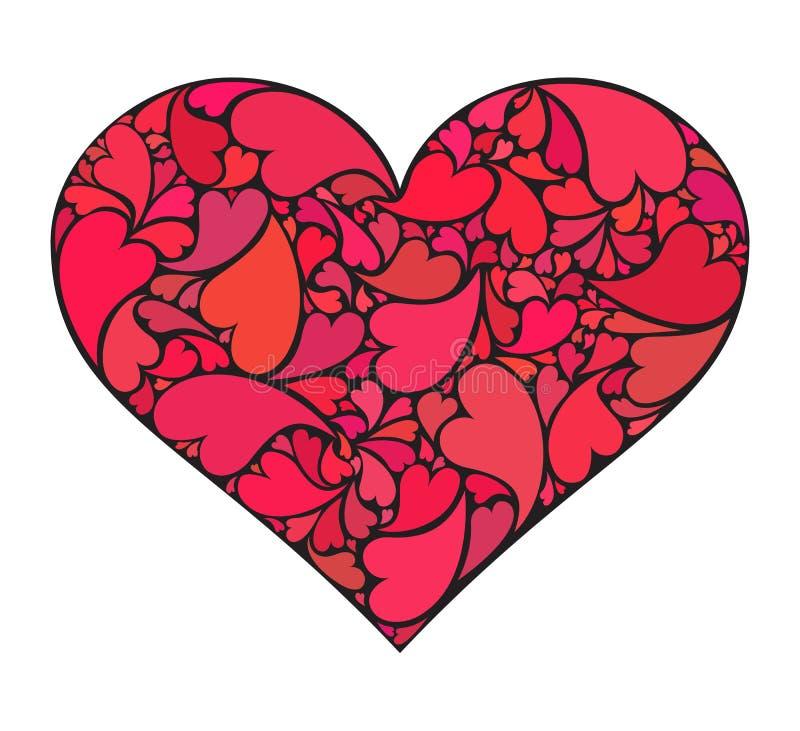 Hart dat van kleine harten wordt gemaakt royalty-vrije stock afbeeldingen