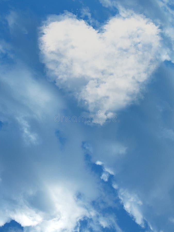 Hart in de hemel stock afbeeldingen