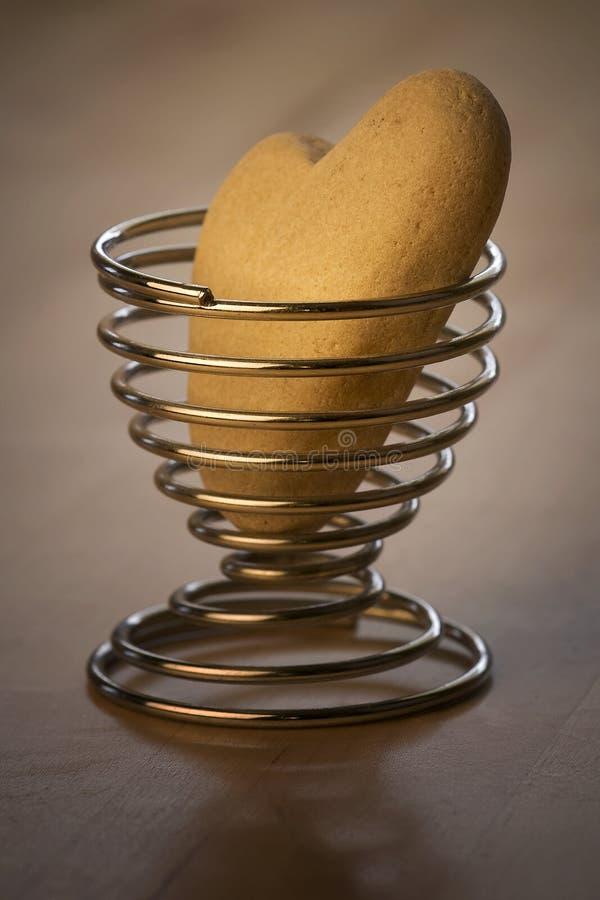 Hart in Egg-Cup stock fotografie