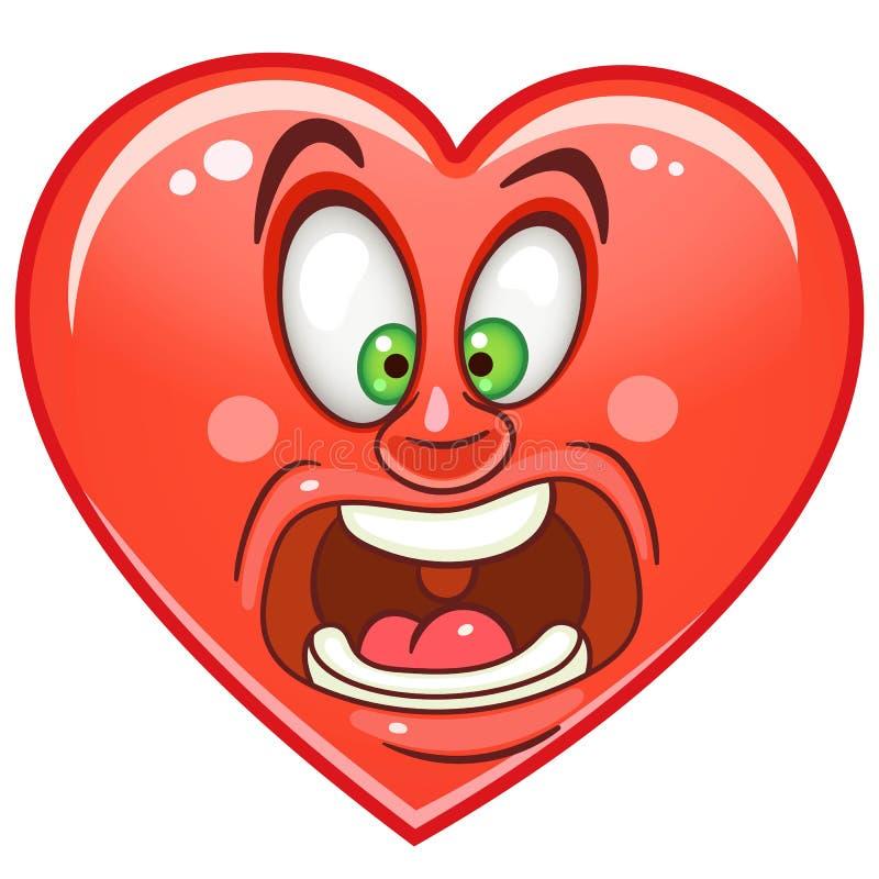 Hart Emoticons Smiley Emoji royalty-vrije illustratie