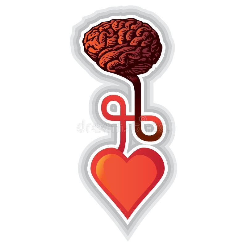 Hart en hersenen stock illustratie