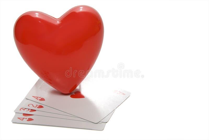 Hart en Speelkaarten royalty-vrije stock foto