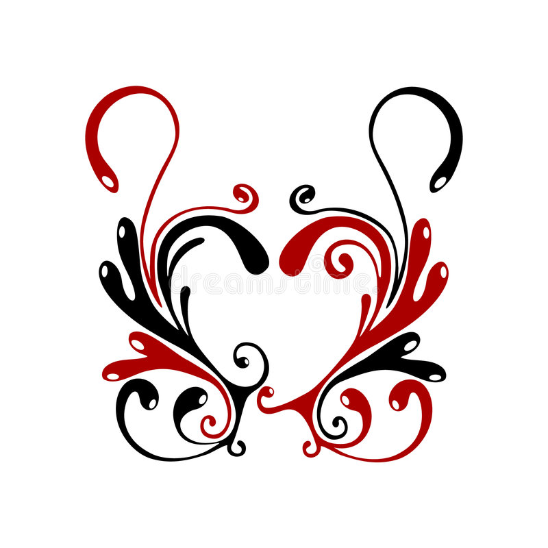 Hart flores vector illustratie