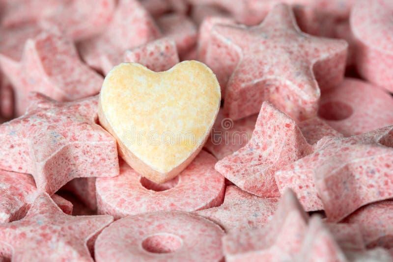 Hart Gevormd Suikergoed royalty-vrije stock afbeelding