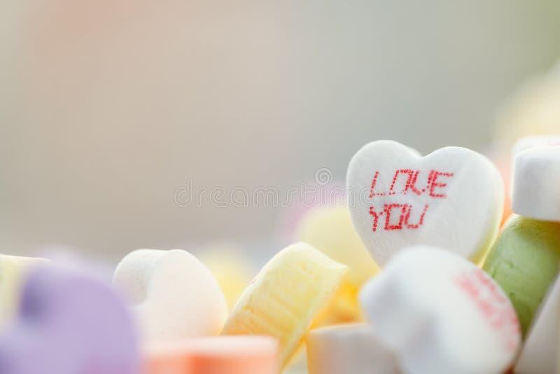 Hart gevormd suikergoed royalty-vrije stock foto