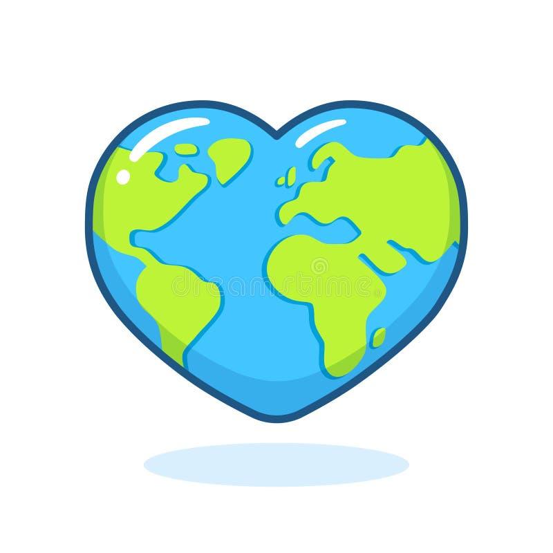 Hart gevormde aarde vector illustratie