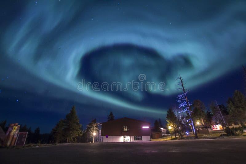 Hart Gevormde Aurora Borealis Northern Lights stock foto