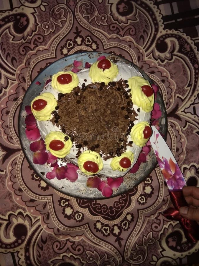 Hart Gevormde Cake royalty-vrije stock afbeelding