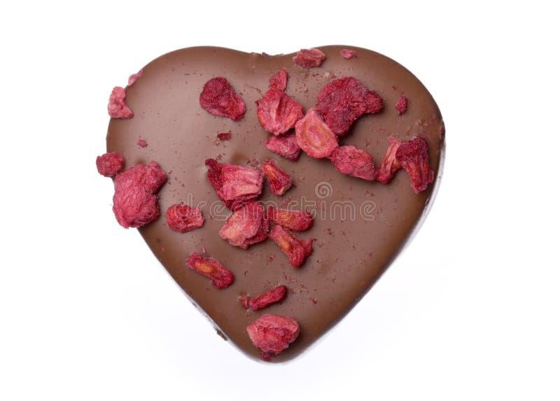 Hart gevormde chocolade royalty-vrije stock afbeelding