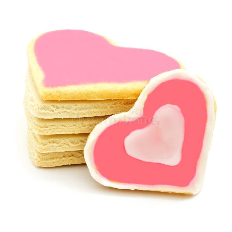 Hart gevormde koekjes stock fotografie