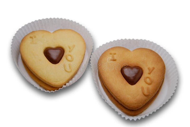 Hart gevormde koekjes stock foto