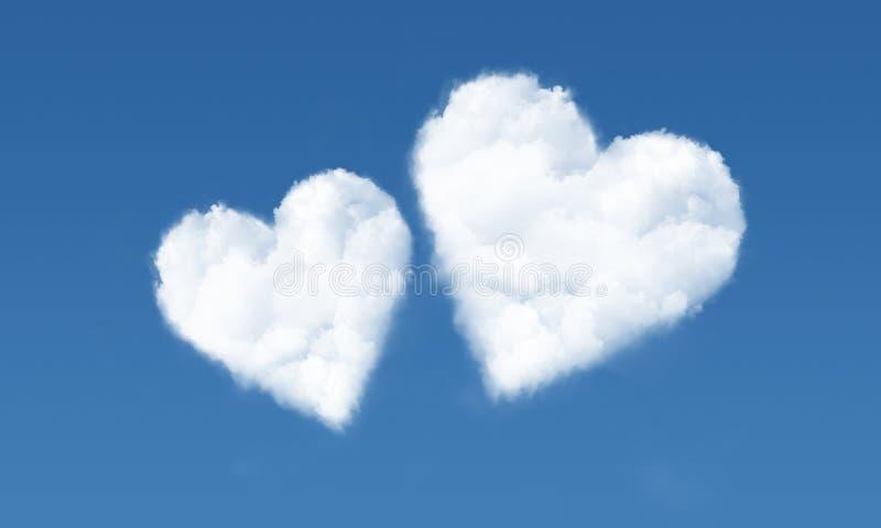 Hart gevormde wolken in hemel 2 royalty-vrije stock fotografie