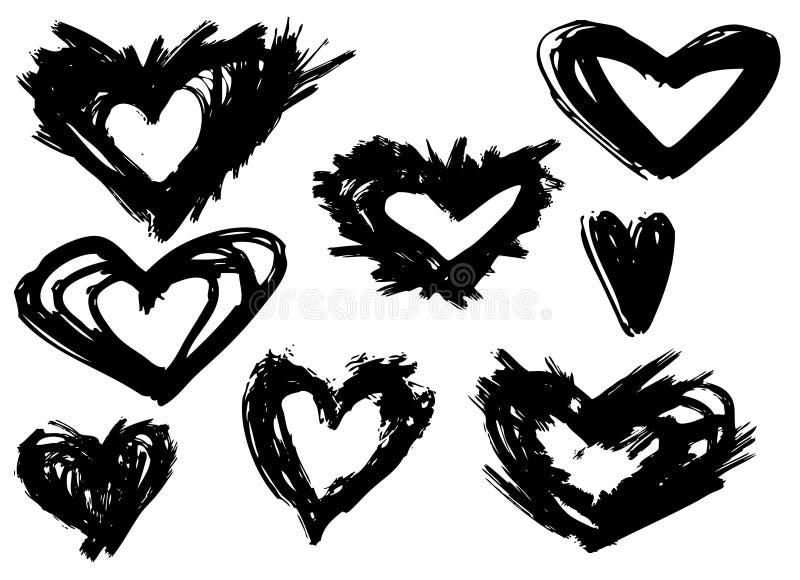 Hart-grunge-F vector illustratie