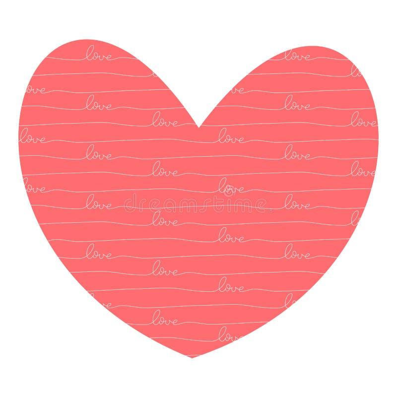 Hart met binnen liefde royalty-vrije illustratie