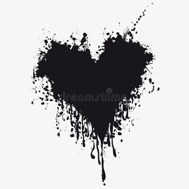 Hart met bloed stock illustratie