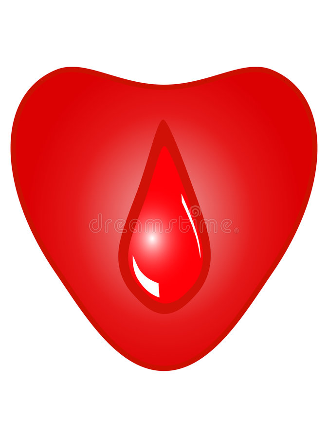 Hart met daling van bloed royalty-vrije illustratie