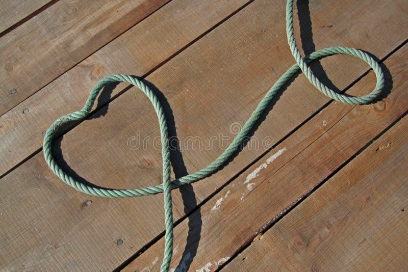 Hart met kabels stock afbeelding