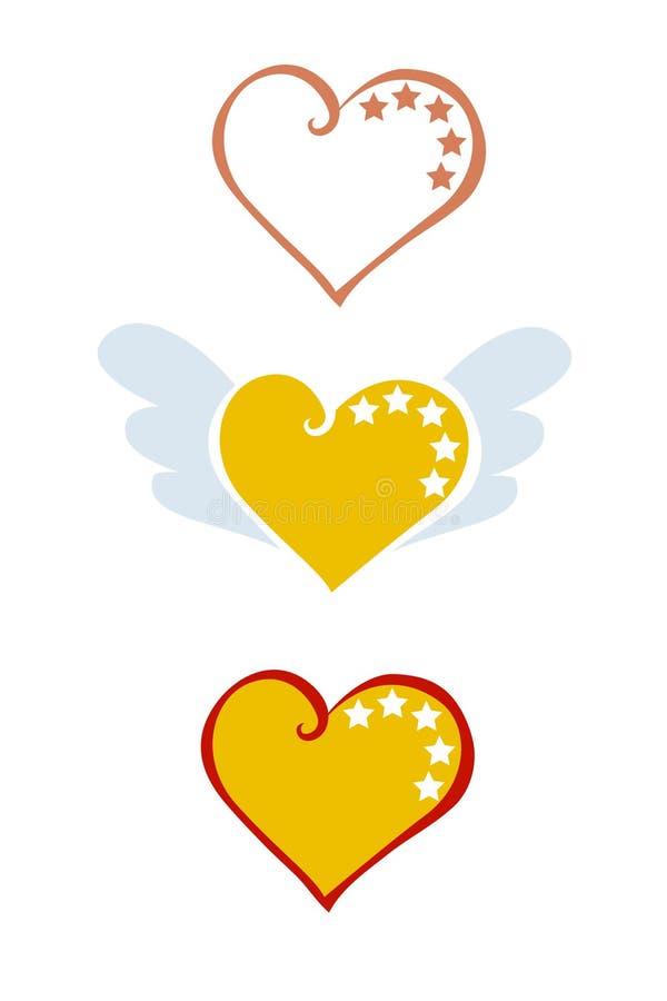Hart met liefde stock illustratie