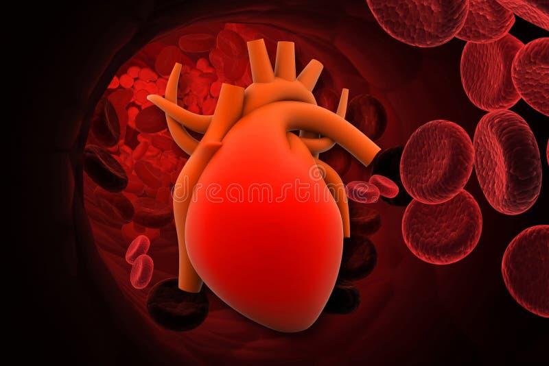 Hart met rode cellen vector illustratie