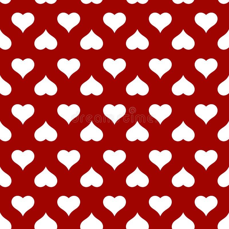 Hart naadloos patroon voor de kaart van de Valentijnskaartendag vector illustratie
