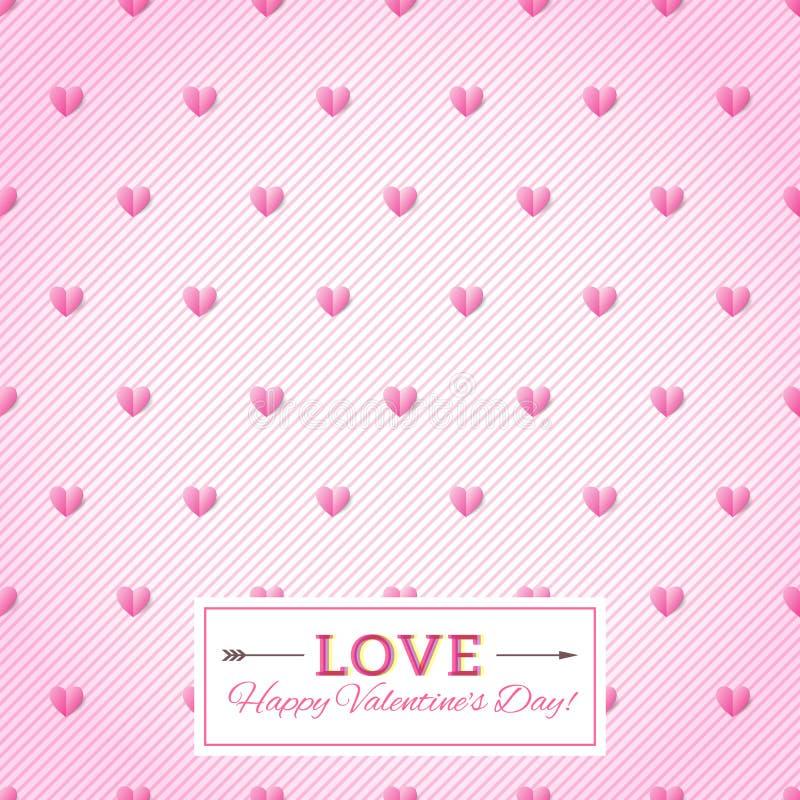 Hart naadloze vectorachtergrond. De Dagkaart van gelukkig Valentine. Se royalty-vrije illustratie