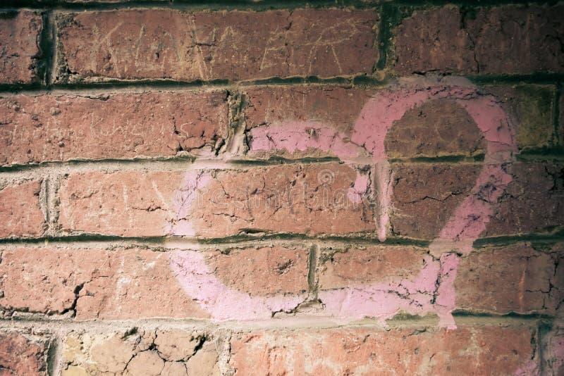 Hart op bakstenen muur royalty-vrije stock fotografie