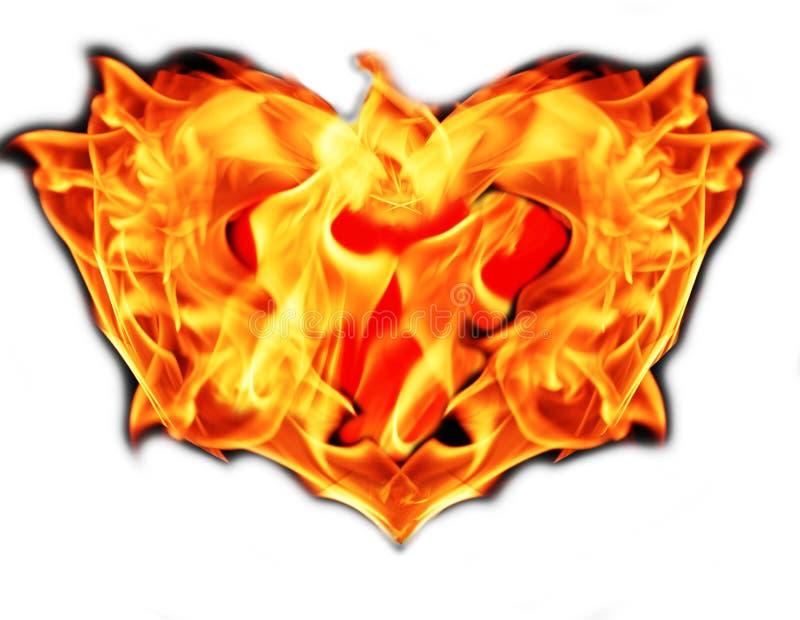 Hart op brand stock foto's
