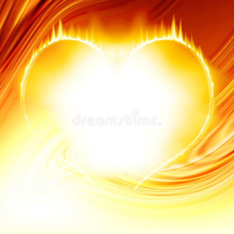 Hart op brand vector illustratie