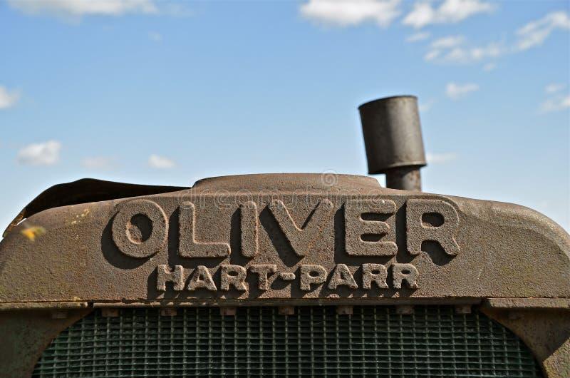 Hart Part Oliver gammalt traktorgaller royaltyfri bild