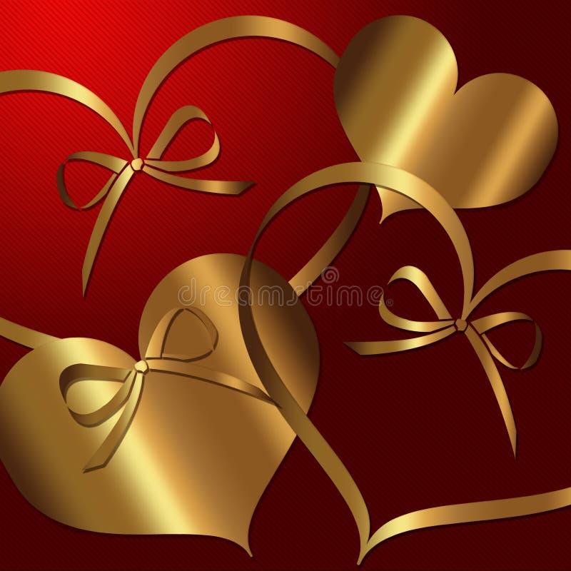 Hart Rode Gouden inzameling royalty-vrije illustratie